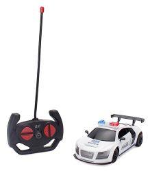Remote Control Police Car - White