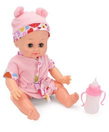 Baby Musical Doll With Accessories - Pink