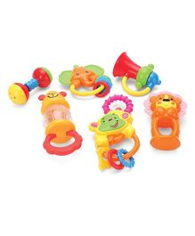 Baby Rattle Set Multicolor - Set Of 6