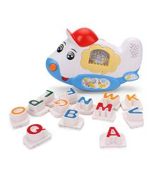 Baby Letter Learning Machine Musical Toy - White And Blue