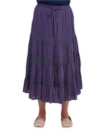 Oxolloxo Maternity A Line Skirt With Lace Details - Purple