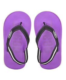 Beanz Flip Flops With Back Strap - Purple