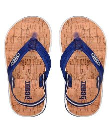 Beanz Flip Flops With Back Strap - Navy Light Brown