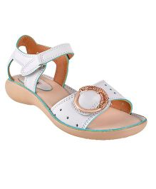 Beanz Party Sandals Buckle Design - White