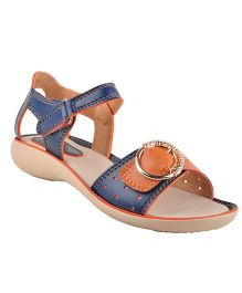 Beanz Party Sandals Buckle Design - Navy Beige