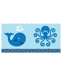 Charmed Celebrations Table Cover Whale Print - Blue