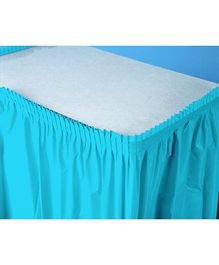 Charmed Celebrations Solid Color Table Skirt - Blue