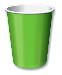 Charmed Celebrations Paper Cups Pack of 8 Green - 266 ml