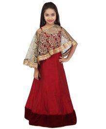 K&U Ethnic Gown - Maroon