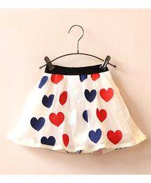 Dress My Angel Little Hearts Skirt - Off White