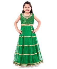 Betty By Tiny Kingdom Beads Embroidered Gown - Green