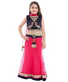 Betty By Tiny Kingdom Choli Set - Pink & Blue