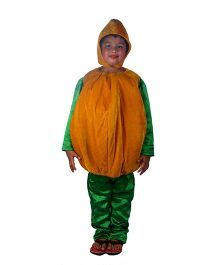 SBD Pumpkin Theme Costume With Cap - Green And Orange