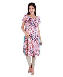 Morph Maternity Marble Print Nursing Kameez - Multicolor