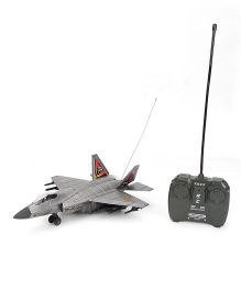 Classic RC 4 Function Fir Jet With Light And Music - Grey