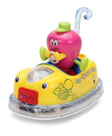 Musical Cartoon Car Toy - Yellow And Pink