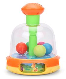 Baby Press And Spin Toy - Orange And Green