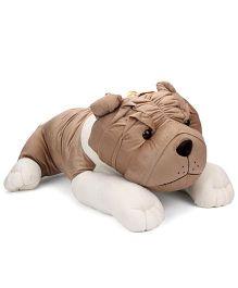 Liviya Lying Bull Dog Soft Toy Brown - 30 Inches