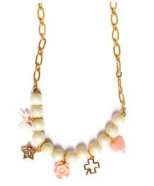 A.T.U.N Dainty Charm Necklace - Off White