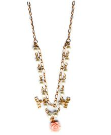 A.T.U.N Double Strand Petite Flower Necklace - Golden