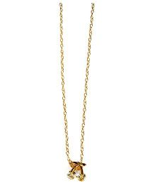 A.T.U.N Dainty Cherry With Diamante Necklace - Golden