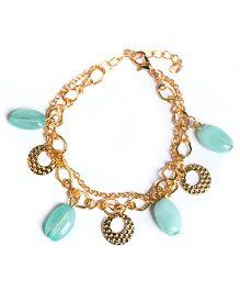 A.T.U.N Stone & Charm Bracelet - Sea Green