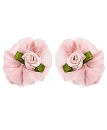 A.T.U.N Flower Stud Earrings - Pink