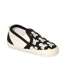 Kiwi Slip-On Booties - White Black