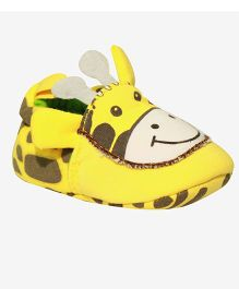 Kiwi Slip On Booties Giraffe Face - Yellow