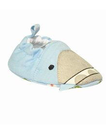 Kiwi Slip On Booties Shark Face - Blue and Grey