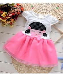 Tickles 4 U Toddlers Summer Dress - Pink & White
