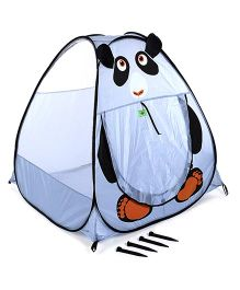 Play Tent House Panda Design - Light Blue