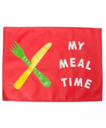 Li'll Pumpkins Meal Time Table Mat - Red