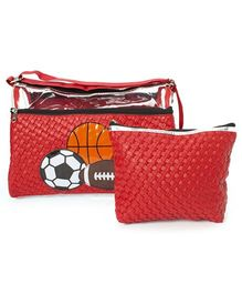 Li'll Pumpkins Ball Swimming Bag & Pouch Set - Red