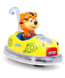 Bumper Car with Tiger - Yellow