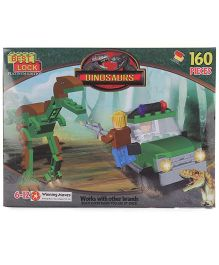Best Lock T-Rex Car Dinosaurs Block Set Multicolor - 160 Pieces