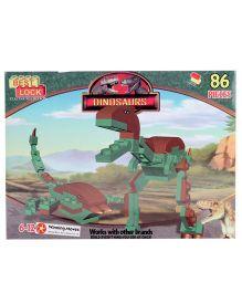 Best Lock  T Rex Dinosaurs Block Set Game - 86 Pieces