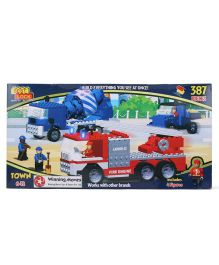 Best Lock Extra Large Box Town Truck Block Set - 387 Pieces