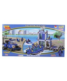 Best Lock Police Harbor Block Set Multicolor - 449 Pieces