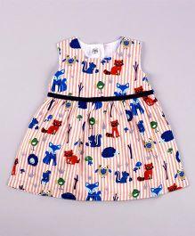 Petite Kids Hunny Bunny Baby Dress - Peach