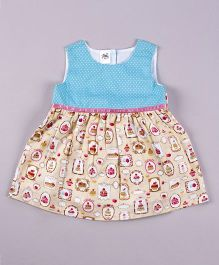Petite Kids Cup Cake Love Dress - Blue & Off White