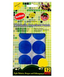 Rungbugz Mosquito Repellent Plain Patches Blue - Pack Of 12