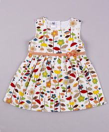 Petite Kids Holly In White Dress - Multicolour