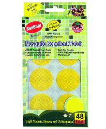 RunBugz Mosquito Repellent Patch Yellow - Pack Of 48