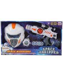 Baby Space Warriors Vibrating Gun With Helmet - White