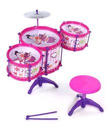 Baby Jazz Drum Set Girl Print - Pink