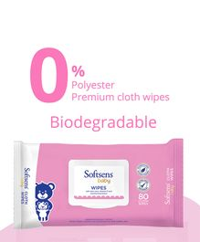 Softsens Baby Wipes - 80 Pieces