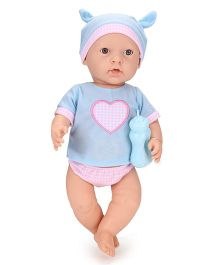 Baby Musical Doll With Bottle - Blue