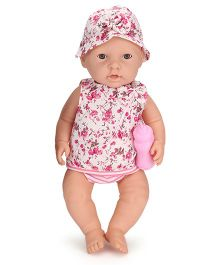 Baby Musical Doll With Bottle Pink - Height 40 cm