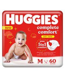 Huggies New Dry Diapers Medium - 60 Pieces